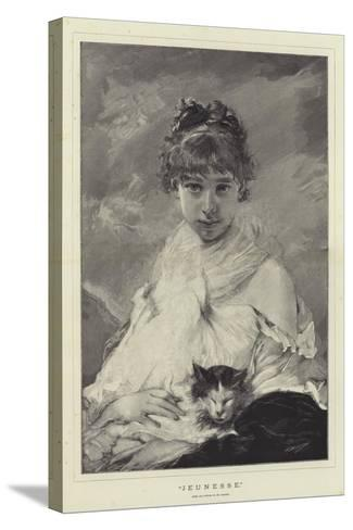 Jeunesse-Charles Joshua Chaplin-Stretched Canvas Print