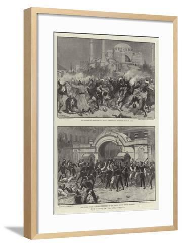 The Crisis in Constantinople-Charles Joseph Staniland-Framed Art Print