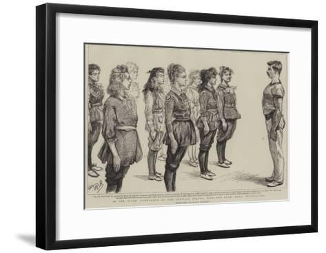 In the Girl's Gymnasium at the People's Palace, Mile End Road, Drill Instruction-Charles Paul Renouard-Framed Art Print