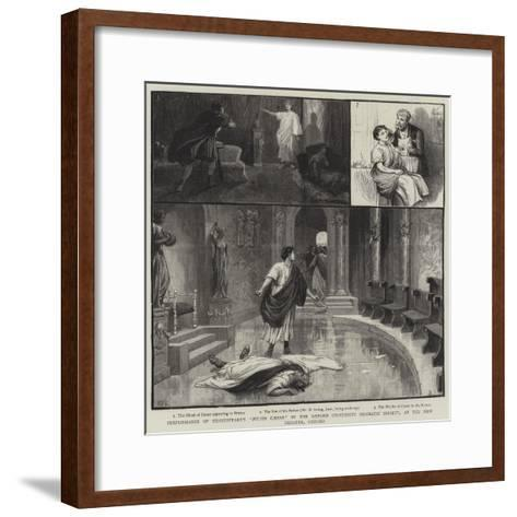 Performance of Shakespeare's Julius Caesar by the Oxford University Dramatic Society-Charles Joseph Staniland-Framed Art Print
