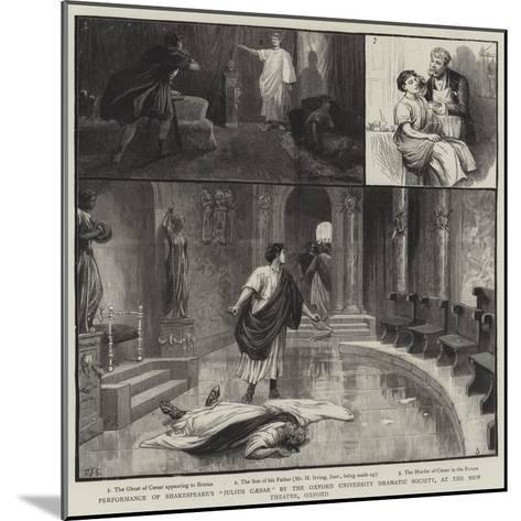 Performance of Shakespeare's Julius Caesar by the Oxford University Dramatic Society-Charles Joseph Staniland-Mounted Giclee Print