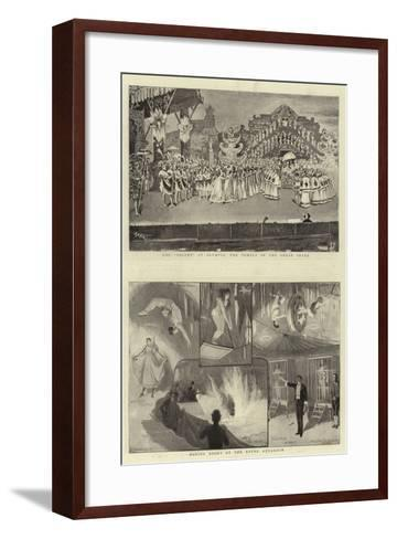 Holiday Entertainments-Charles Joseph Staniland-Framed Art Print