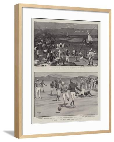 At the Front with the Nile Expedition-Charles Joseph Staniland-Framed Art Print