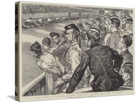 A Tug of War at the Royal Military Tournament, the Final Tie of the Auxiliaries-Charles Paul Renouard-Stretched Canvas Print