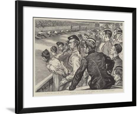 A Tug of War at the Royal Military Tournament, the Final Tie of the Auxiliaries-Charles Paul Renouard-Framed Art Print