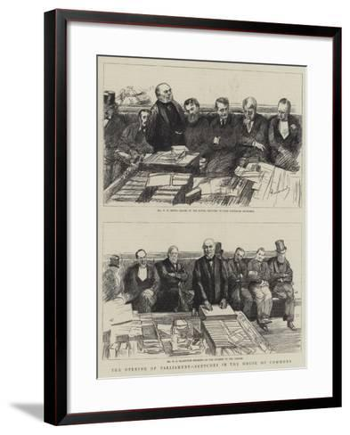 The Opening of Parliament, Sketches in the House of Commons-Charles Paul Renouard-Framed Art Print