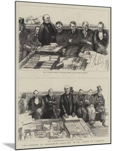 The Opening of Parliament, Sketches in the House of Commons-Charles Paul Renouard-Mounted Giclee Print