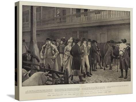 The Centenary of the Smithfield Club Cattle Show, 1798-1897-Charles Green-Stretched Canvas Print