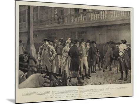 The Centenary of the Smithfield Club Cattle Show, 1798-1897-Charles Green-Mounted Giclee Print