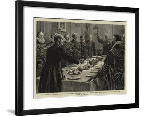 The Opening of Parliament-Charles Joseph Staniland-Framed Art Print