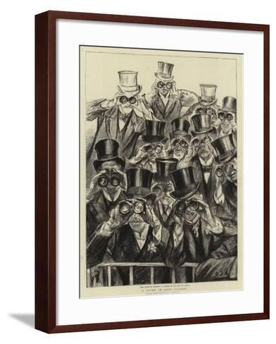 A Study in Race Glasses-Charles Paul Renouard-Framed Art Print
