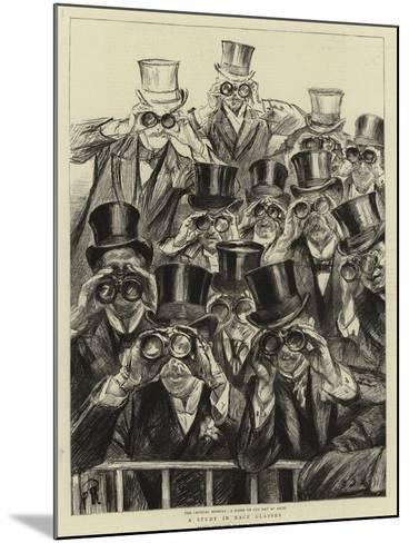 A Study in Race Glasses-Charles Paul Renouard-Mounted Giclee Print