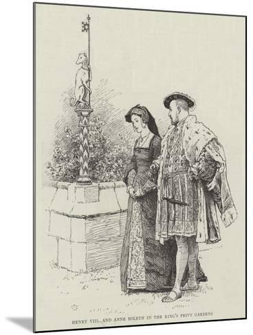 Henry VIII and Anne Boleyn in the King's Privy Gardens-Charles Green-Mounted Giclee Print