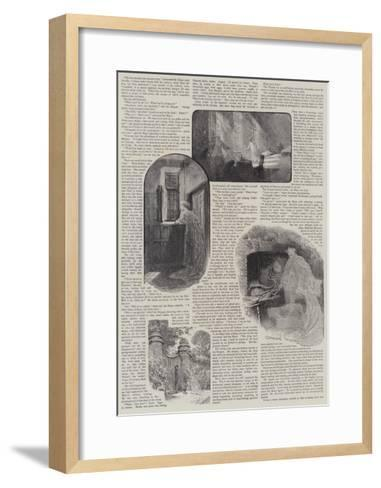 How We Discovered a Haunted House-Charles Joseph Staniland-Framed Art Print