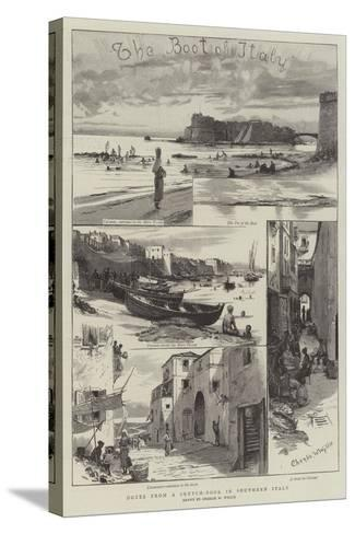 Notes from a Sketch-Book in Southern Italy-Charles William Wyllie-Stretched Canvas Print