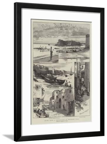 Notes from a Sketch-Book in Southern Italy-Charles William Wyllie-Framed Art Print