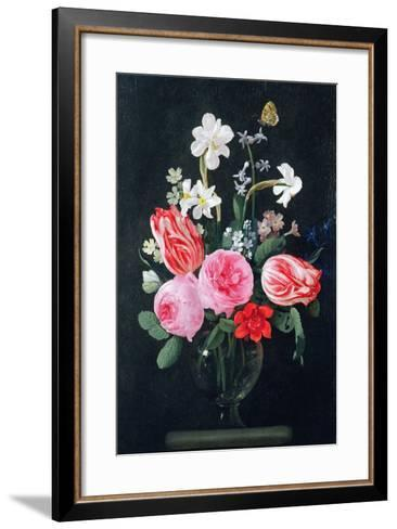 Roses, Narcissi, Tulips and Other Flowers-Christiaan Luykx-Framed Art Print