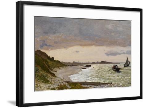 The Seashore at Sainte-Adresse, 1864-Claude Monet-Framed Art Print