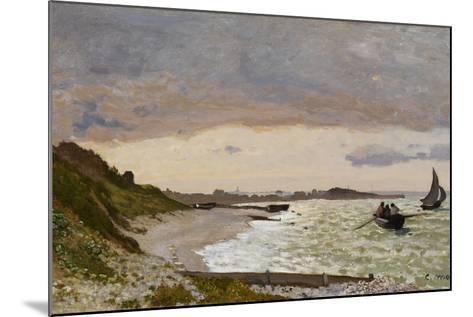 The Seashore at Sainte-Adresse, 1864-Claude Monet-Mounted Giclee Print