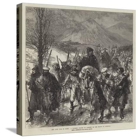 The Civil War in Spain, a Navarre Column of Carlists on the March to Carascal-Charles Robinson-Stretched Canvas Print