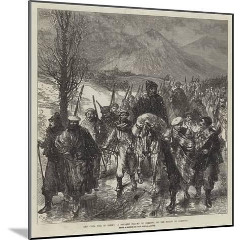 The Civil War in Spain, a Navarre Column of Carlists on the March to Carascal-Charles Robinson-Mounted Giclee Print