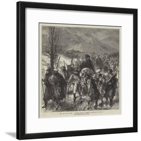 The Civil War in Spain, a Navarre Column of Carlists on the March to Carascal-Charles Robinson-Framed Art Print