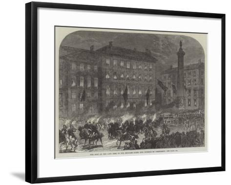 The Body of the Late King of the Belgians Taken into Brussels by Torchlight-Charles Robinson-Framed Art Print