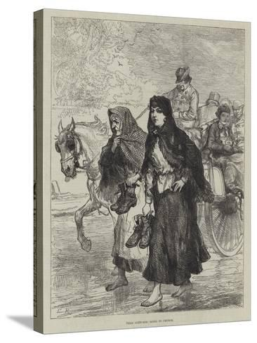 Irish Sketches, Going to Chruch-Charles Robinson-Stretched Canvas Print
