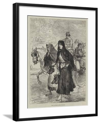 Irish Sketches, Going to Chruch-Charles Robinson-Framed Art Print