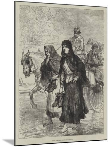 Irish Sketches, Going to Chruch-Charles Robinson-Mounted Giclee Print