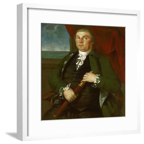 Captain David Coats, C.1775-Christian Gullager-Framed Art Print