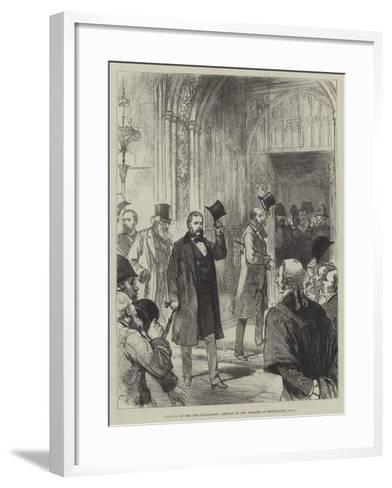Meeting of the New Parliament, Arrival of New Members in Westminister Hall-Charles Robinson-Framed Art Print