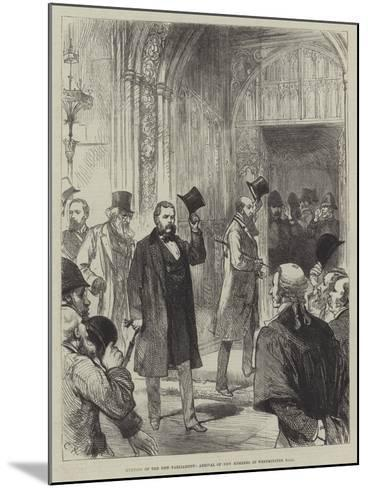 Meeting of the New Parliament, Arrival of New Members in Westminister Hall-Charles Robinson-Mounted Giclee Print