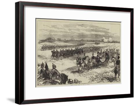 Review of Troops before the Queen, at Chobham-Charles Robinson-Framed Art Print