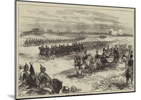 Review of Troops before the Queen, at Chobham-Charles Robinson-Mounted Giclee Print