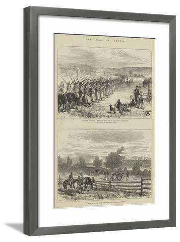 The War in Servia-Charles Robinson-Framed Art Print