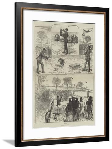 Hawking at Hendon-Charles Robinson-Framed Art Print