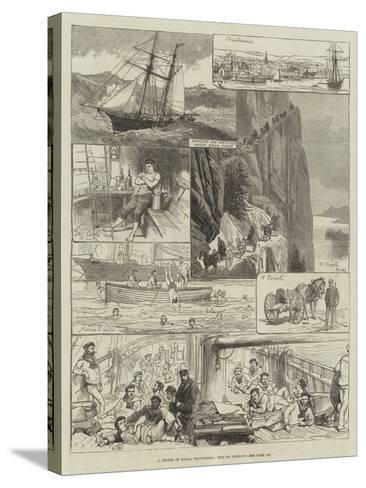 A Cruise of Naval Volunteers, Trip to Norway-Charles Robinson-Stretched Canvas Print