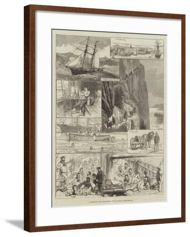 A Cruise of Naval Volunteers, Trip to Norway-Charles Robinson-Framed Art Print