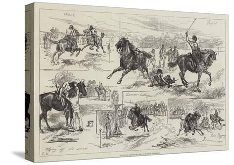 Mounted Sports of the Woolwich Garrison-Charles Robinson-Stretched Canvas Print