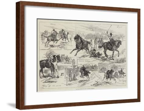 Mounted Sports of the Woolwich Garrison-Charles Robinson-Framed Art Print