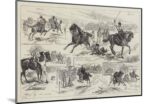 Mounted Sports of the Woolwich Garrison-Charles Robinson-Mounted Giclee Print