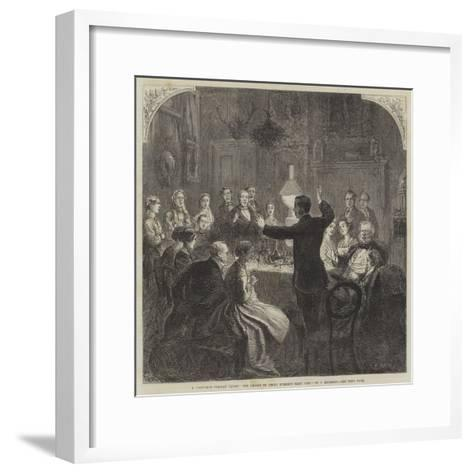 A Christmas Holiday Lesson, the Chorus to Uncle Evered's Comic Song-Charles Robinson-Framed Art Print