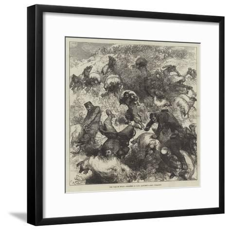 The War in Spain, Soldiers of King Alfonso's Army Foraging-Charles Robinson-Framed Art Print