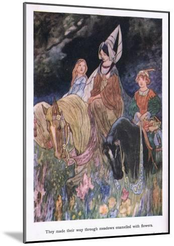 They Made their Way Through Meadows Enamelled with Flowers-Charles Robinson-Mounted Giclee Print
