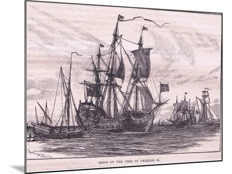 Ships of the Time of Charles II-Charles William Wyllie-Mounted Giclee Print
