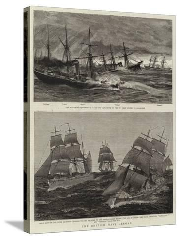 The British Navy Abroad-Charles William Wyllie-Stretched Canvas Print