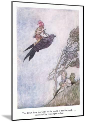 The Dwarf Drew the Bridle in the Mouth of the Blackbird and Fixed His Round Eyes on Her-Charles Robinson-Mounted Giclee Print