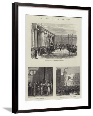 The Election of a New Pope-Charles Robinson-Framed Art Print