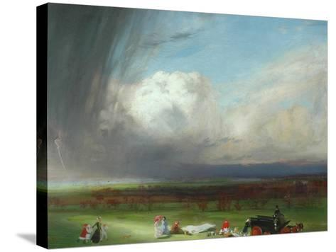 An Interrupted Picnic, 1901-Charles Sims-Stretched Canvas Print